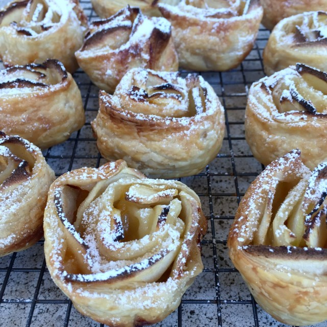 Apple Rose Tartlets - Baked
