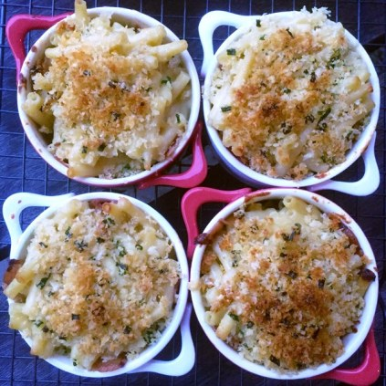 Individual Mac And Cheese With Panko Crumb