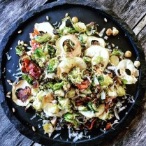 https://thepaddingtonfoodie.com/2015/06/08/eat-fast-and-live-longer-a-5-2-fast-diet-recipe-idea-under-300-calories-roasted-brussels-sprout-salad-with-crispy-bacon-apple-hazelnuts-and-farro/