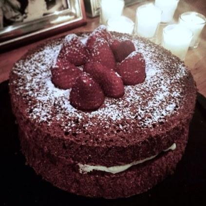 Light and Airy Fat Free Chocolate Sponge Cake