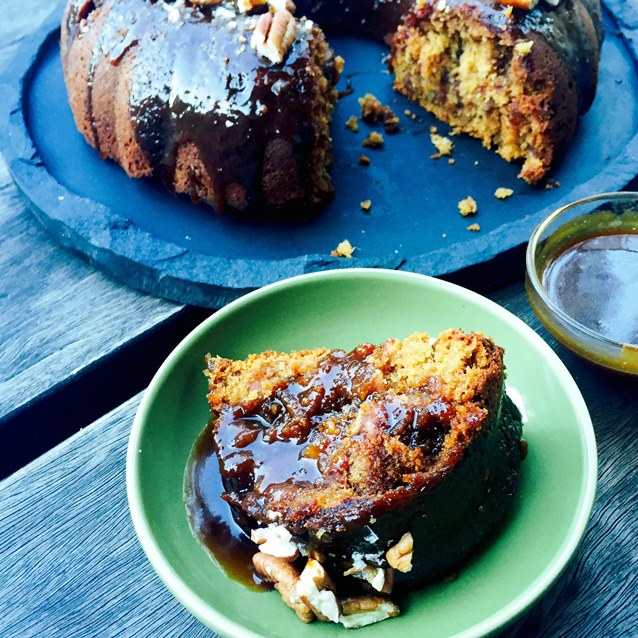 Sticky Date Bundt Cake With Salted Burnt Butter Caramel Glaze