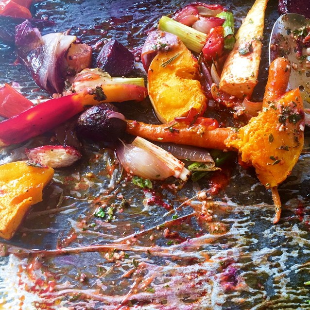 Warm Winter Roast Root Vegetables