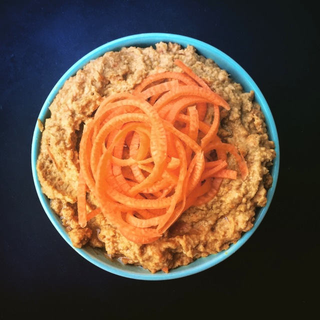 Sweet Roasted Carrot Hummus