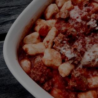 Ricotta Gnocchi With Sausage Meatballs